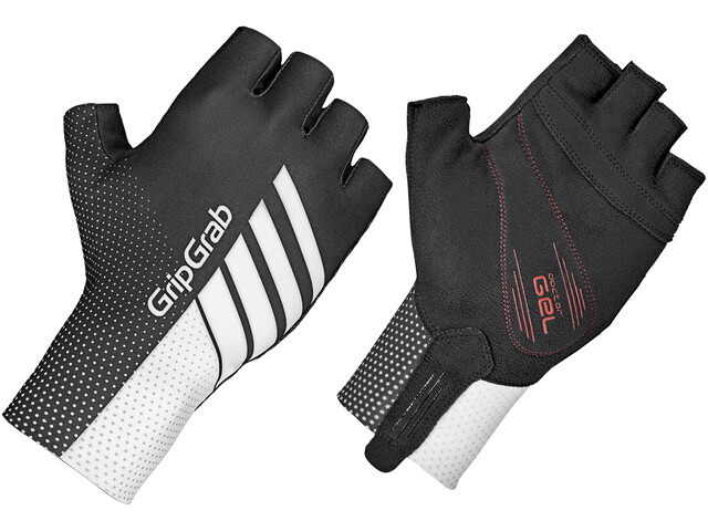 GripGrab Aero TT Raceday Short Finger Gloves, black/white